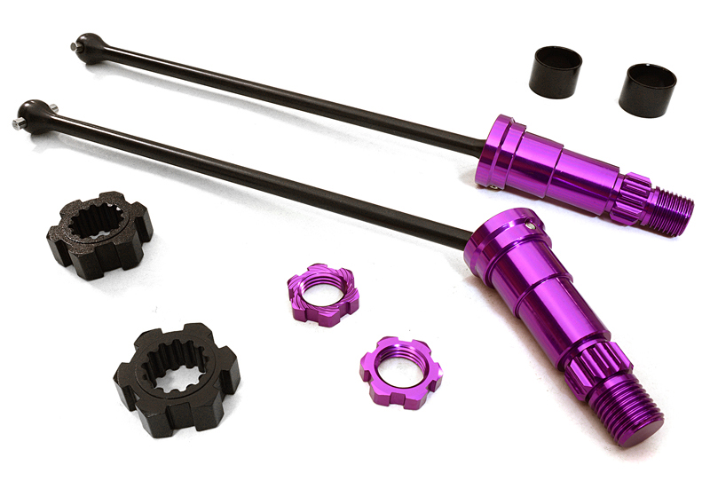 Integy RC Toy Model Hop-ups C27072PURPLE Universal Drive Shafts w  +12mm Ext. Stub Axles... by Integy