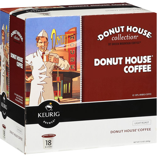 Keurig K-Cups, Donut House Collection Regular Coffee, 18 ct