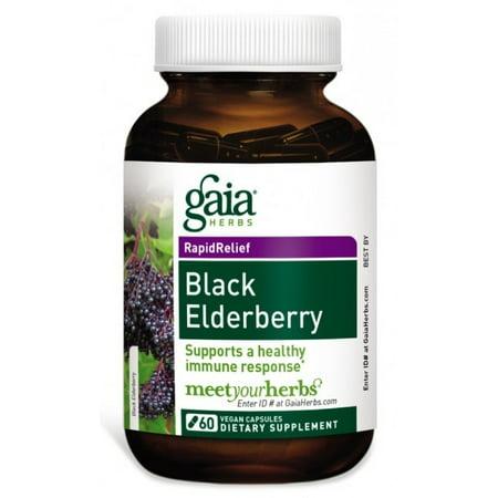 Gaia Herbs Black Elderberry Vegan Capsules, 60 Ct