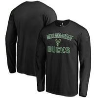 Milwaukee Bucks Victory Arch Long Sleeve T-Shirt - Black