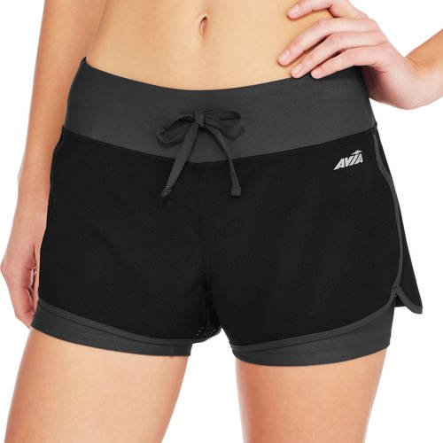 Avia - Women's Active Perforated Shorts with Built in Compression Shorts -  Walmart.com - Walmart.com