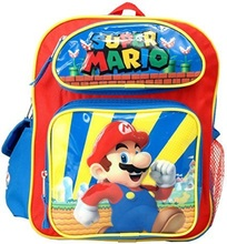 """Odyssey Super Mario Toddler Small 12/"""" Backpack"""