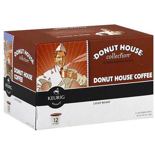 Donut House Light Roast Coffee, 12PC (Pack of 6)