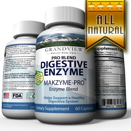 Digestive Enzyme Pro Blend - All Natural Stomach Support For Better Digestion And Nutrient Absorption, Fights Bloating, Gas And Constipation For A Healthy Tummy 60 (Digestion Blend)