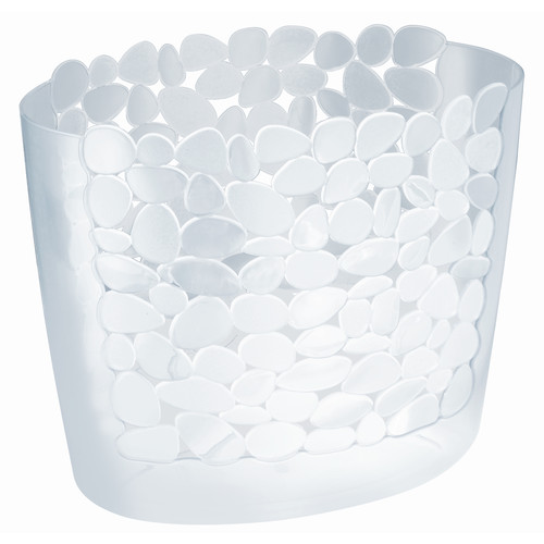 InterDesign Pebblz Plastic Wastebasket Trash Can