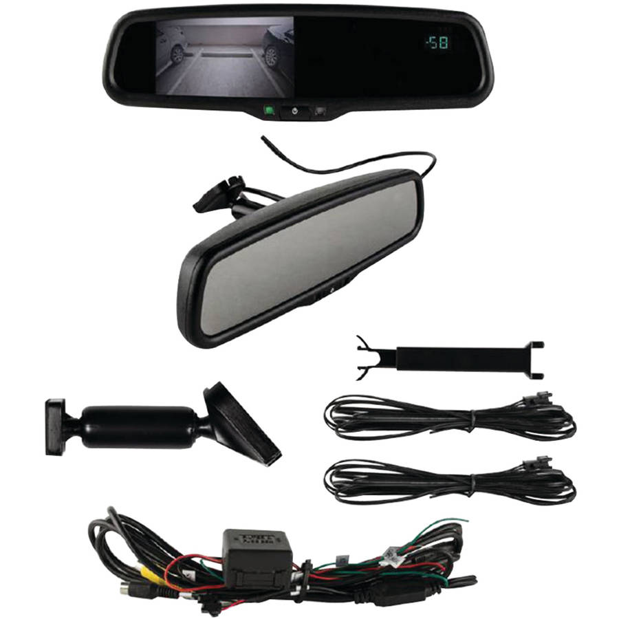 "iBEAM Te-rvmtc 4.3"" Rearview Mirror with Compass and Temperature"