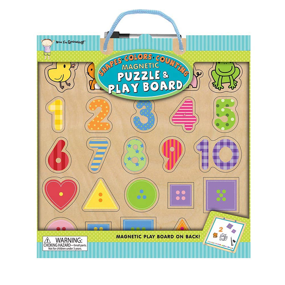 Shapes Colors Counting Magnetic 25 Piece Puzzle and Pl,  Kids Puzzles by Innovative Kids