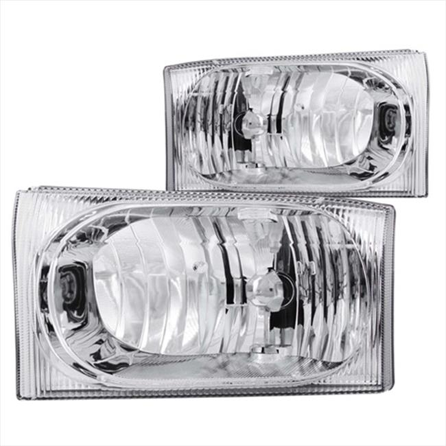 ANZO 111023 Ford Excursion Superduty Headlights, Clear - image 2 de 2