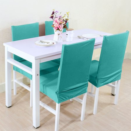 PiccoCasa Stretch Spandex Dining Room Chair Covers Protector Set of 4 ()