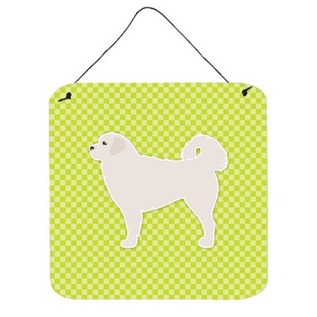 Polish Tatra Sheepdog Checkerboard Green Wall or Door Hanging Prints