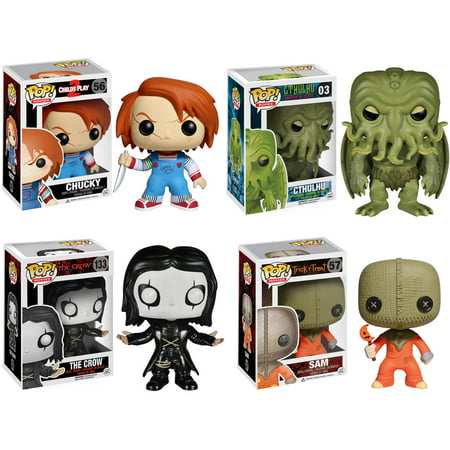 Funko Horror Classics POP! Movies Vinyl Collectors Set: Chucky, Cthulhu, The Crow and Sam (Trick 'r Treat) -  0084794400094