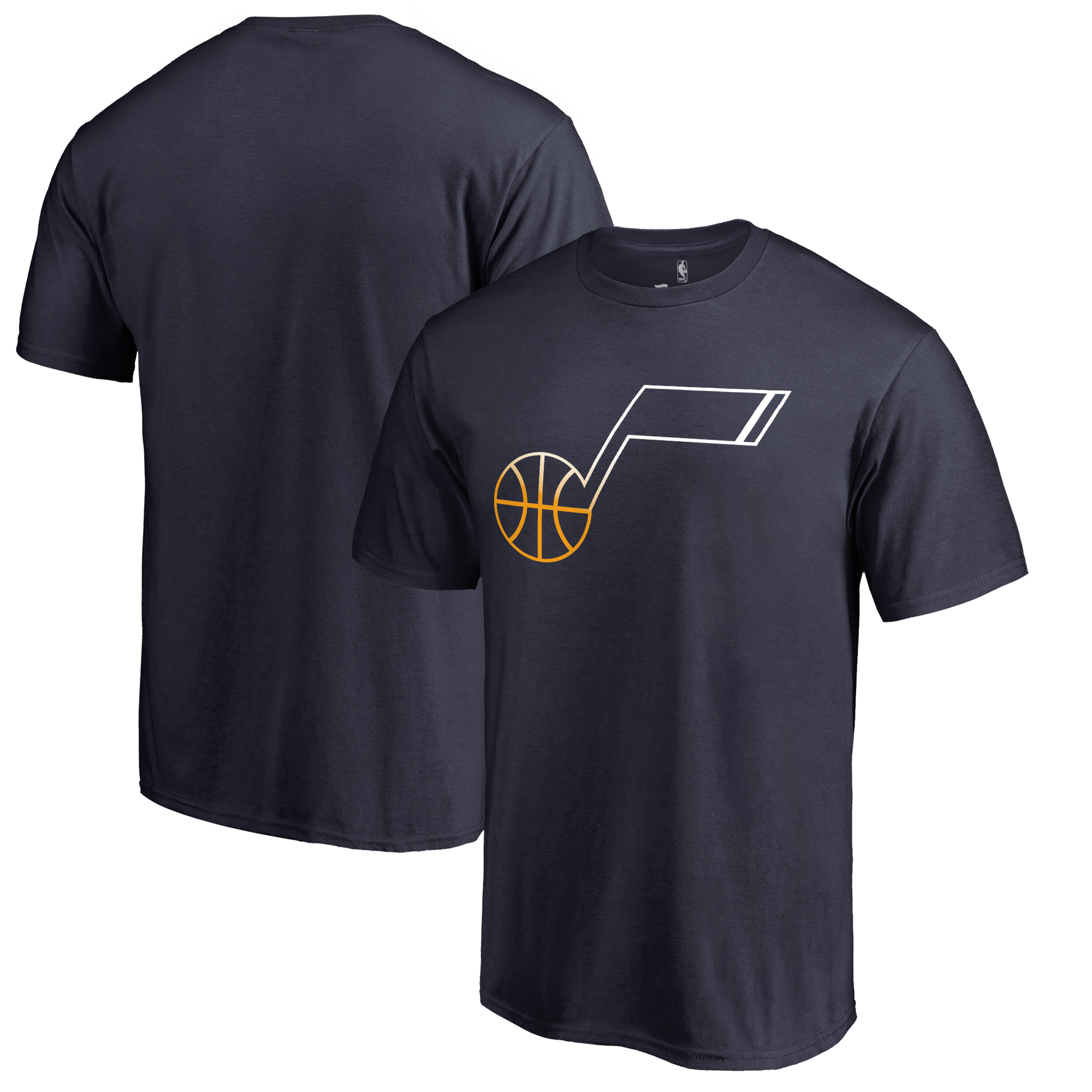 Utah Jazz Fanatics Branded Gradient Logo T-Shirt - Navy