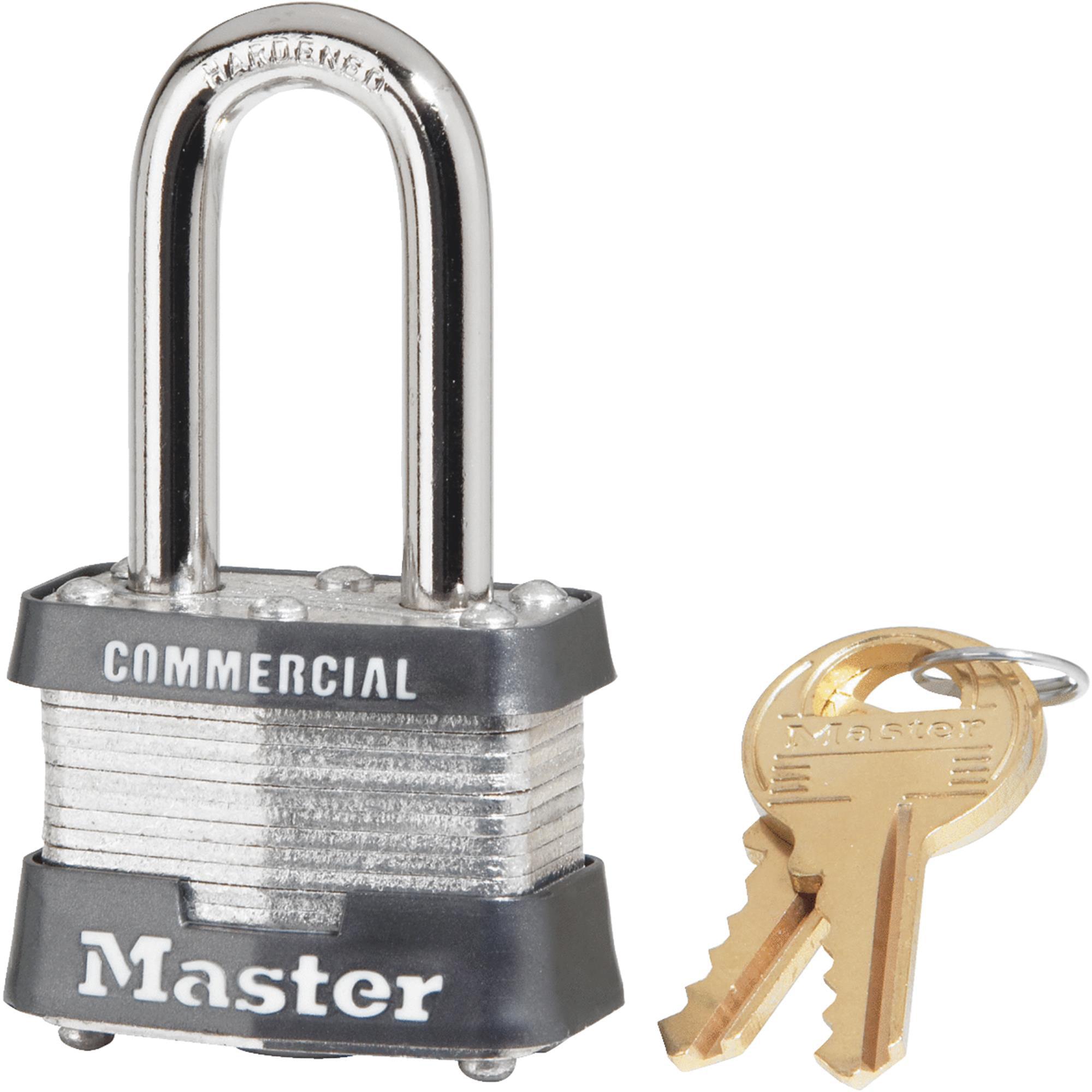 Master Lock 1-1/2 In. Wide 4-Pin Tumbler Keyed Padlock