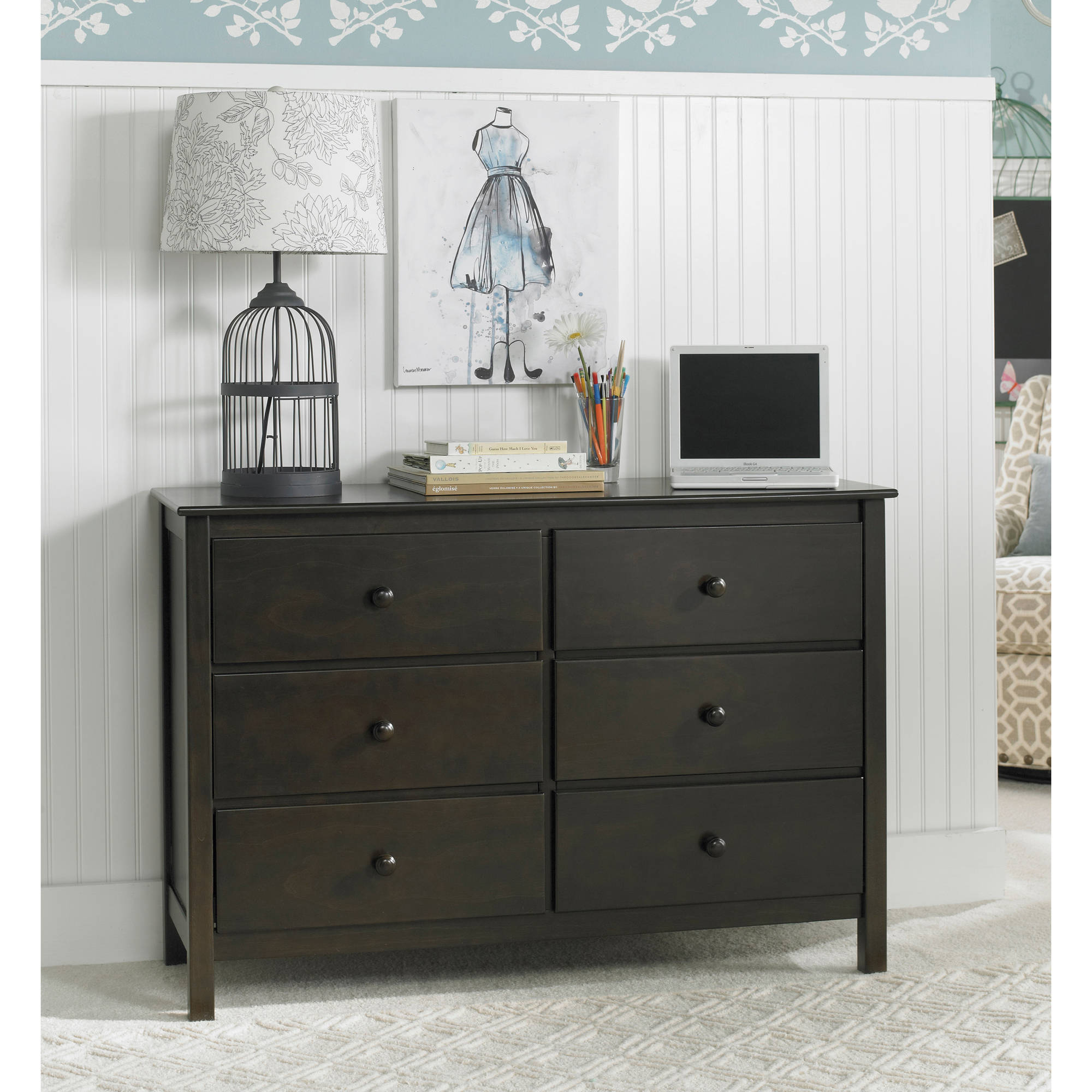 Fisher-Price 6 Drawer Double Dresser, Choose Your Finish and Hardware