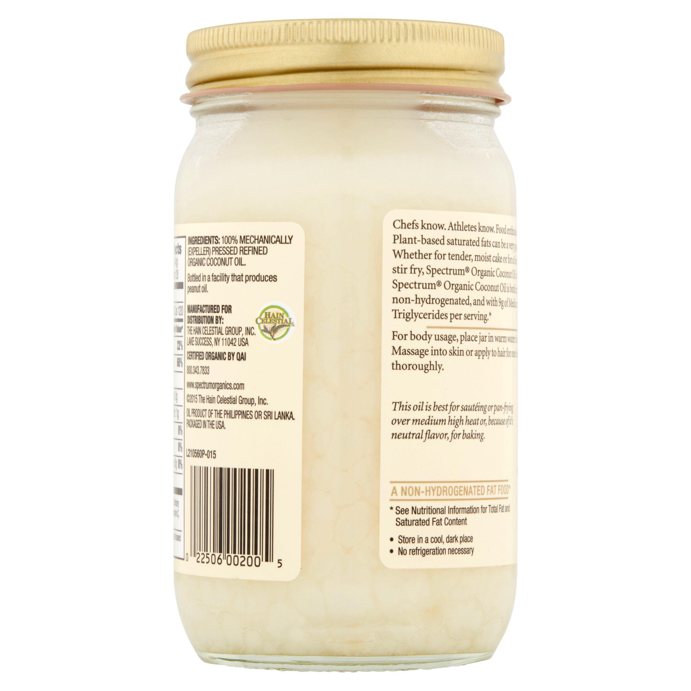 Spectrum Oil Coconut Organic 14 fl oz - 108 Grocery
