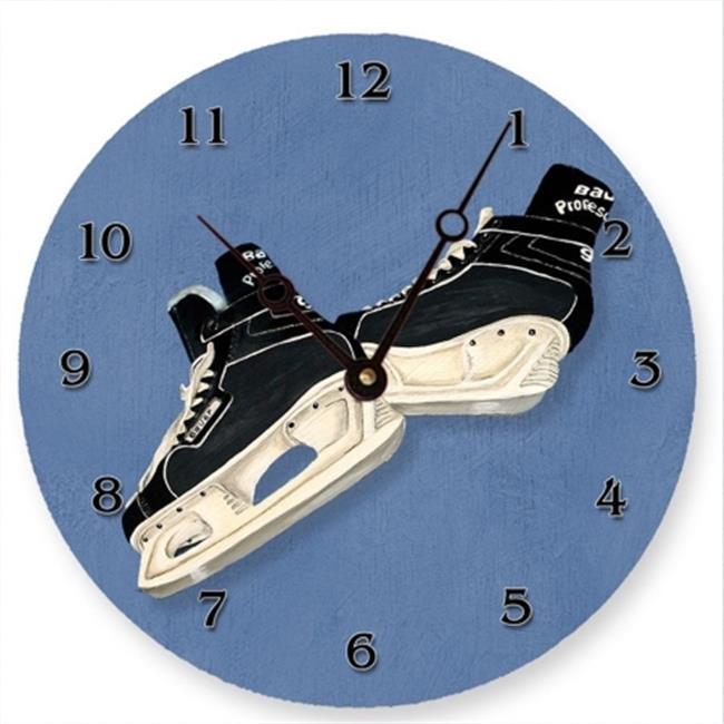 Lexington Studios 23-Round Clock:23123R Hockey Skates 10 inch Round Clock by