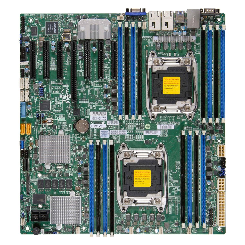 Super Micro X10DRH-C-B Dual LGA2011/ Intel C612/ DDR4/ SA...
