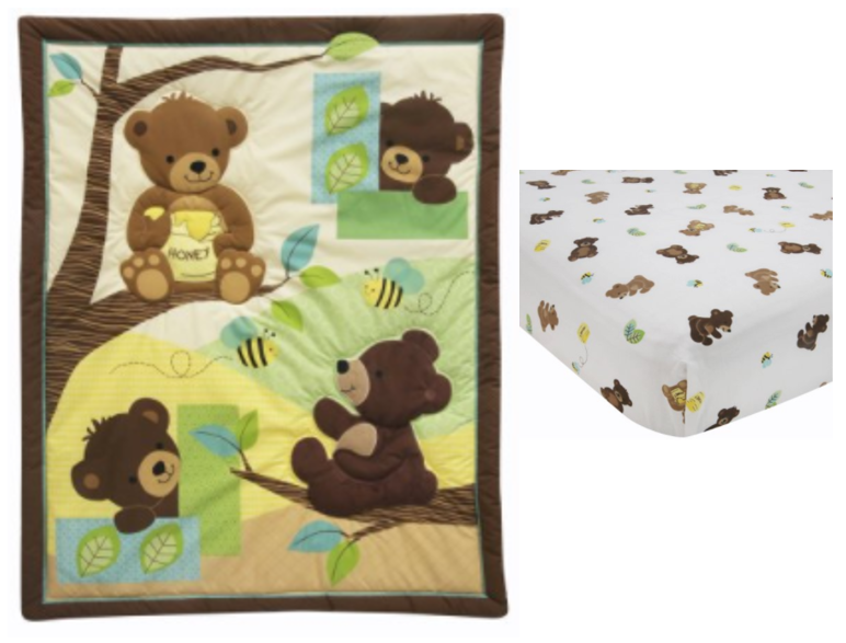 Lambs U0026 Ivy Bedtime Originals Honey Bear 3 Piece Crib Bedding Set