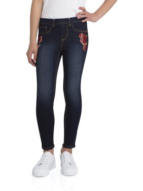 Wonder Nation Embroidered Pull-On Jegging Jean (Little Girls & Big Girls)