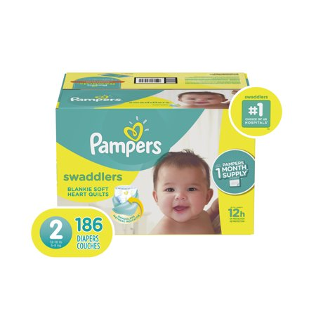 0b61309f9b9b Pampers Swaddlers Diapers Size 2 186 Count - Walmart.com