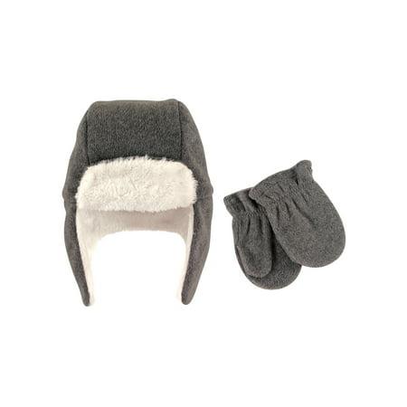 Hudson Baby Toddler Unisex Traper Fleece Hat   Mittens 2pc Set - Walmart.com 4d475828220