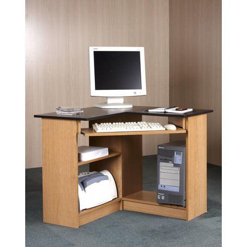 Orion Corner Computer Workstation Oak And Black