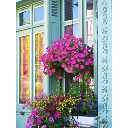 Window With Flowers, France, Europe Print Wall Art By Guy