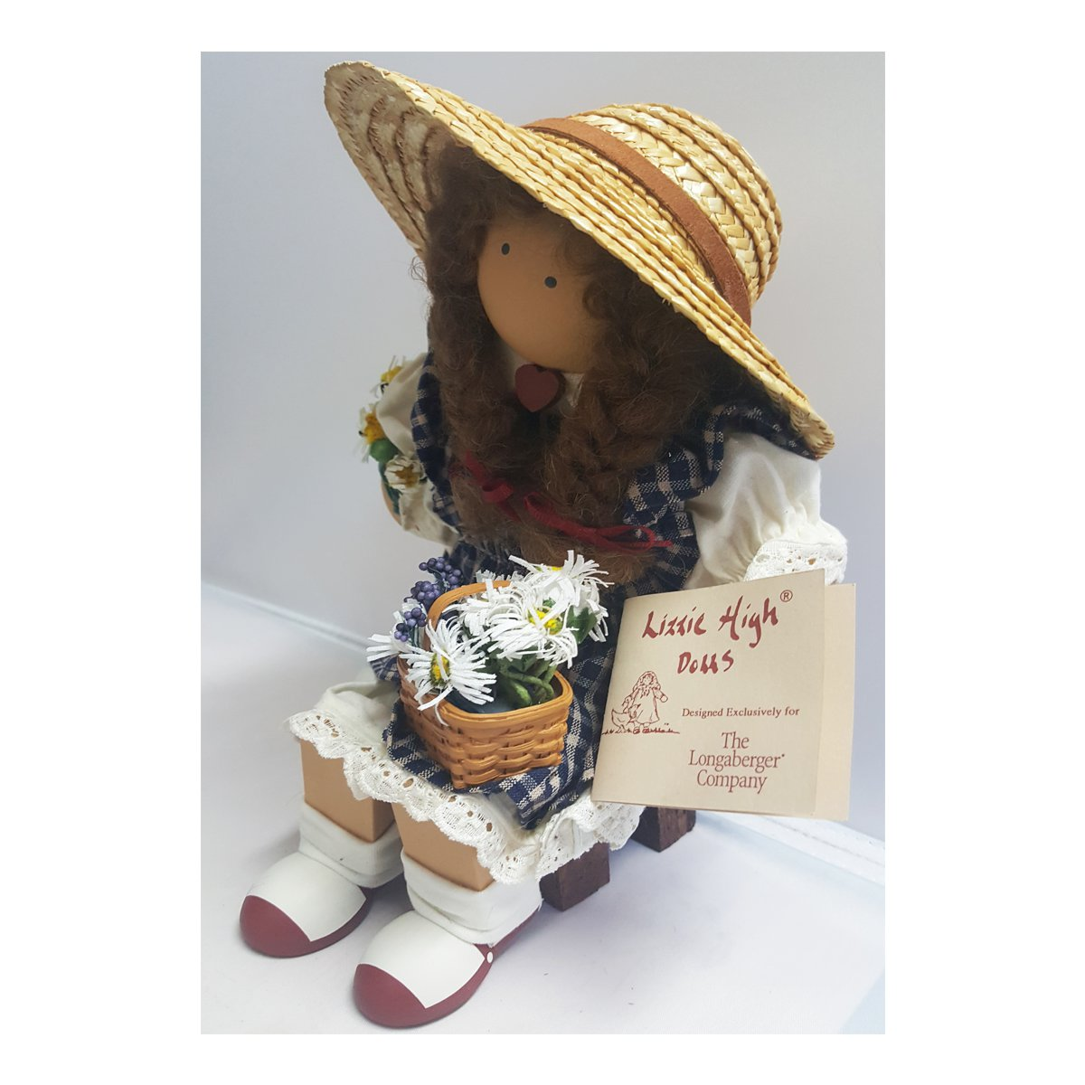 Rare Longaberger Lizzie High Doll Daisy Mae Ladie & Friends 1998 ...