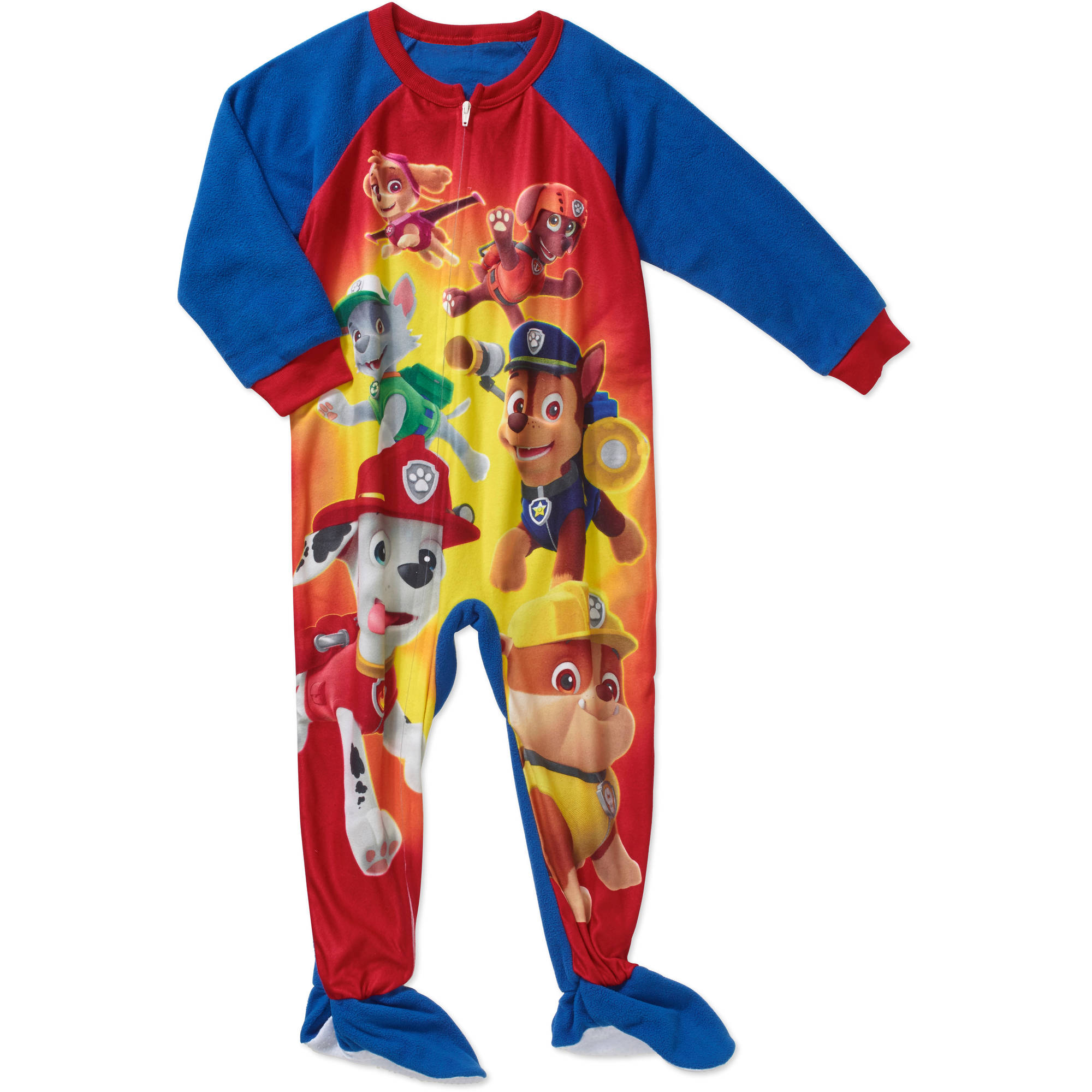 Paw Patrol Toddler Boy Micro Fleece Footed PJ