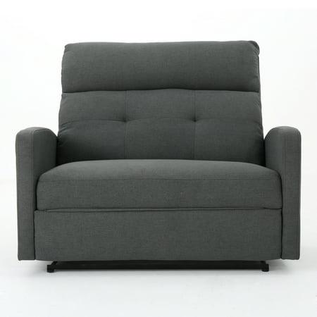 - Hana Fabric 2 Seater Recliner, Charcoal