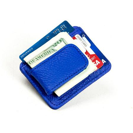 26f84afb5672 Goson Leather Money Clip Credit Card Holder Top Grain Cowhide Leather -  Walmart.com
