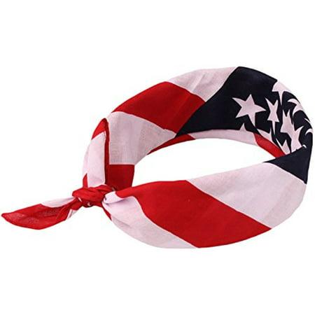 American Flag Bandana Headband - Patriotic USA Unisex Bandanas by bogo  Brands (2) - Walmart.com 2b8a27b752f