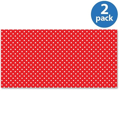 (2 Pack) Fadeless, PAC57408, Bulletin Board Art Paper, 1 Roll, Red
