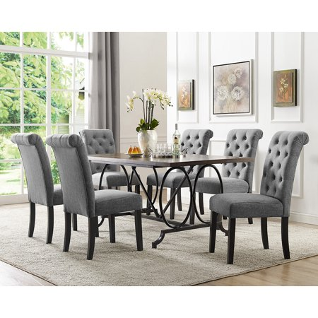 Brassex Dining Table Chairs Grey