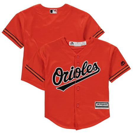 Baltimore Orioles Majestic Preschool Alternate Official Cool Base Team Jersey - Orange Baltimore Orioles Replica Alternate Jersey