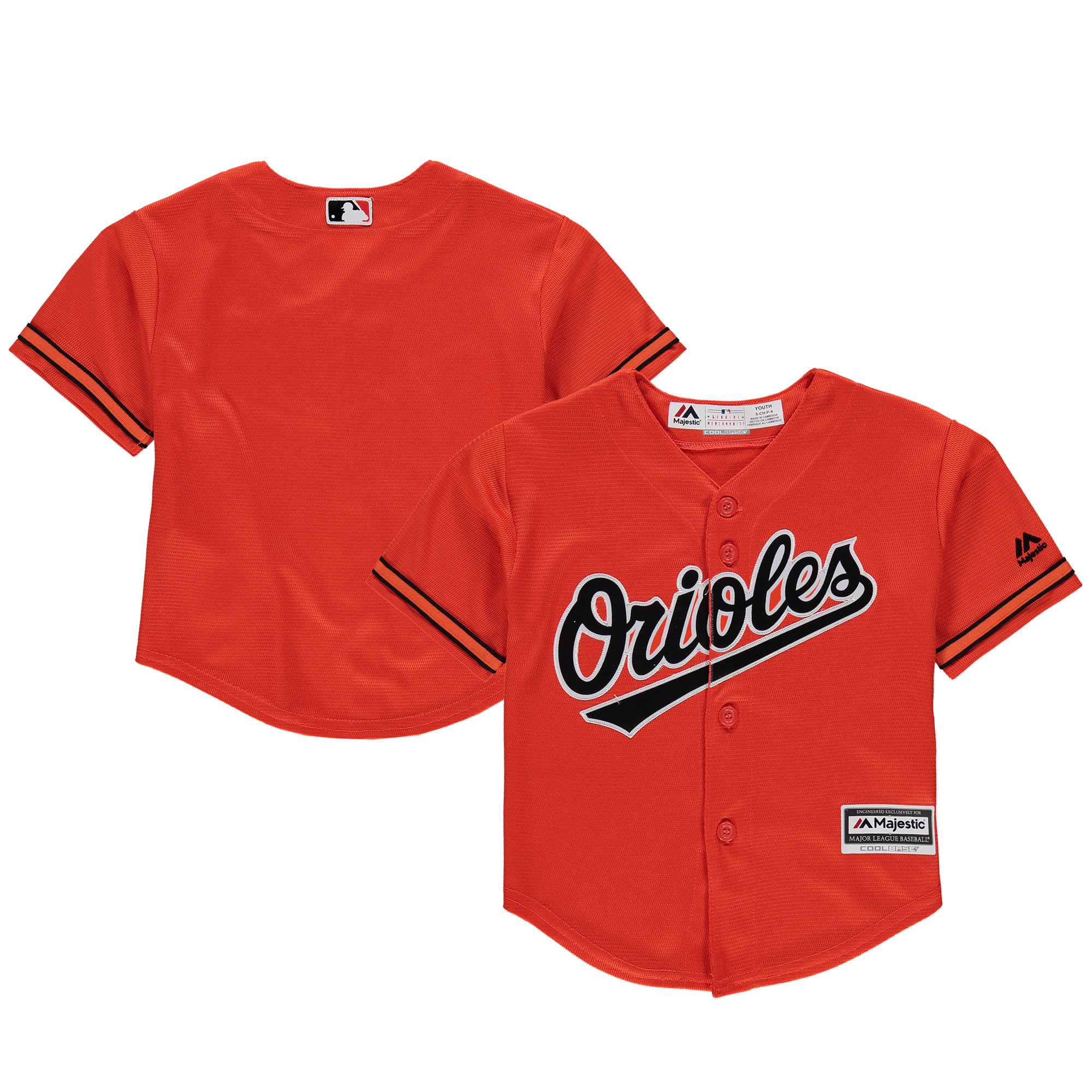 Baltimore Orioles Majestic Preschool Alternate Official Cool Base Team Jersey Orange by Outerstuff