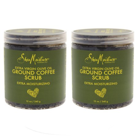 Olive Oil Coffee Scrub by Shea Moisture for Unisex - 12 oz Scrub - Pack of
