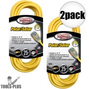 Coleman Cable 01687 25' 12/3 Polar/Solar Extension Cord 2-Pack