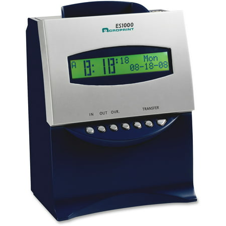 Acroprint 150 Time Clock (Acroprint ES1000 Totalizing Digital Automatic Payroll Recorder/Time Clock, Blue and)