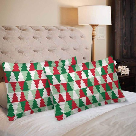 GCKG Christmas Tree Seamless Pattern Pillow Cases Pillowcase 20x30 inches Set of 2 - image 1 de 4