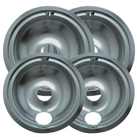 Range Kleen 4 Piece Cooktop Style B Plug-in Electric Range Drip Pan Set
