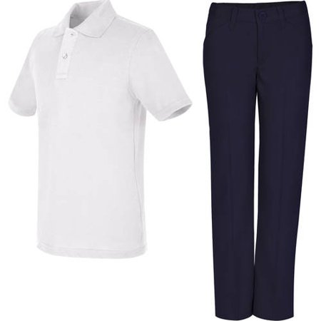 REAL SCHOOL Girls Uniform Outfit Polo Shirt and Pants Value (Sports Uniform)