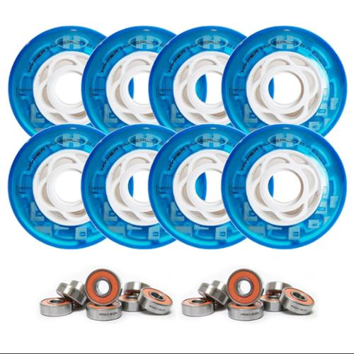 HYPER Inline Wheels SUPERLITE 8-PACK + ABEC 7 BEARINGS 80MM 82A BLUE