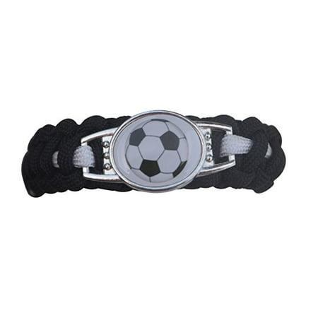 Soccer Bracelet, Soccer Jewelry, Adjustable Soccer Paracord Bracelets for Kids- Soccer Gifts for Girls & Boys](Bracelets For Kids)