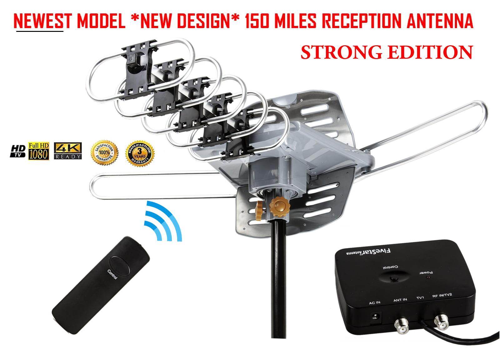 150 Mile Wild Range Outdoor TV Antenna Up to 150 Miles ...