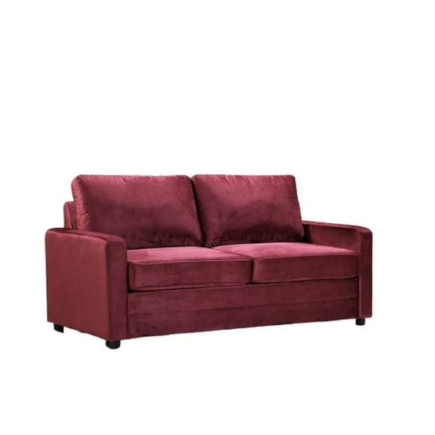 Knightsville Velvet 70 Square Arms Sofa Bed Walmart Com Walmart Com