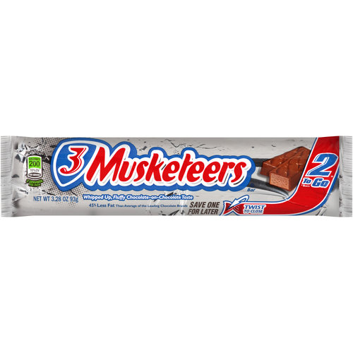 3 Musketeers Original Chocolate Candy Bars, Sharing Size, 3.28 Oz