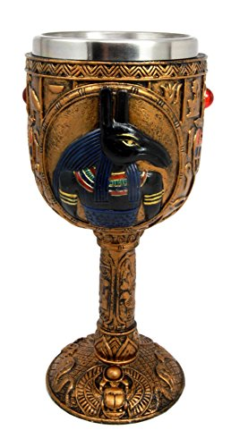 Ancient Egyptian God Of Chaos And Desert Seth 6oz Resin Wine Goblet Chalice Cup