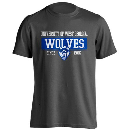 University of West Georgia Wolves UWG Since 1906 Bar Mascot Logo Short Sleeve T-Shirt  ()