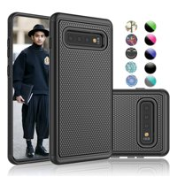 "Samsung Galaxy S10 Case, Galaxy S10 Case Cover, Njjex [Shock Absorption] Dual Layer Hybrid Armor Defender Protective Case Cover for Smamsung Galaxy S10 6.1"" (2019) -Black"